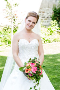 Sarah Schiffler bei Ihrer eigenen Hochzeit
